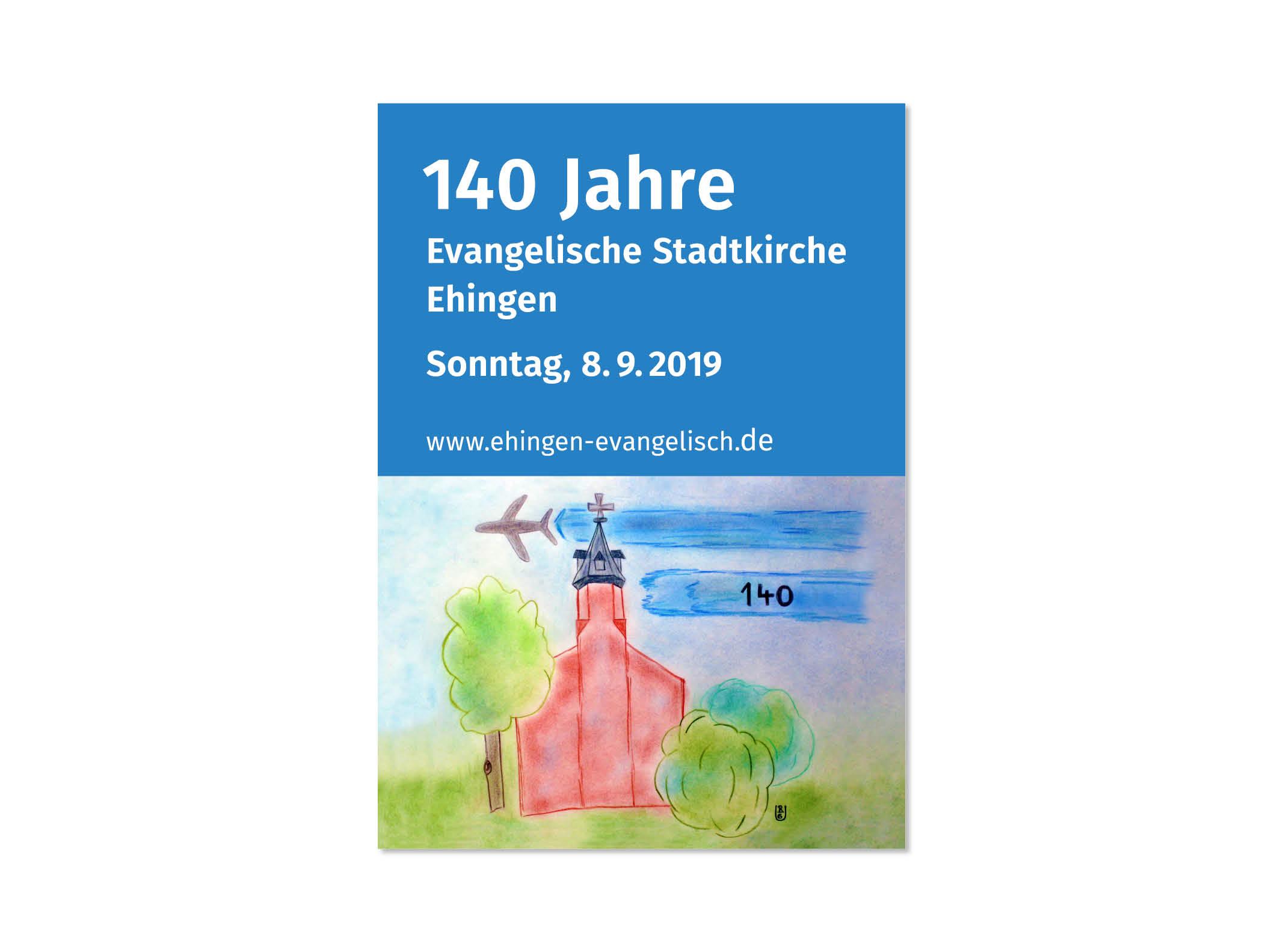 Plakat Jubiläum 140 Jahre Ev. Stadtkirche