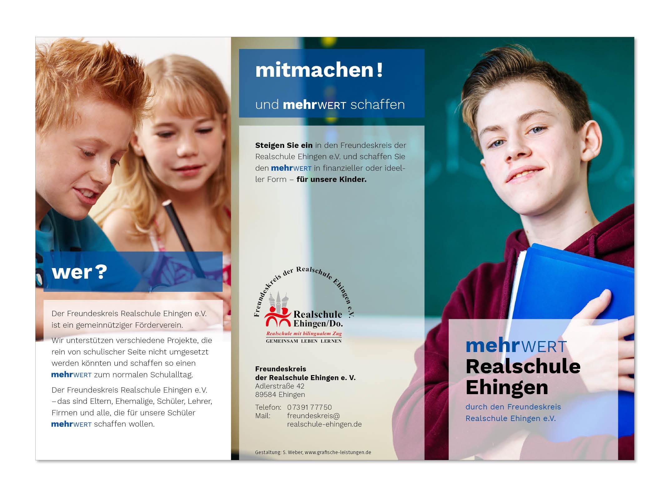 Infoflyer Freundeskreis Realschule Ehingen